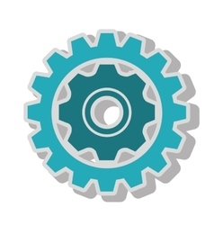 Gear wheel team work isolated vector