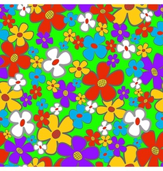 Flower meadow seamless vector