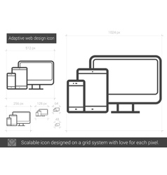 Adaptive web design line icon vector