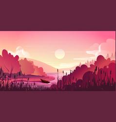 landscape nature background vector image