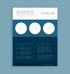 Creative blue brand brochure template vector