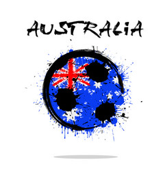 flag of australia as an abstract soccer ball vector image