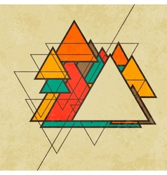 Triangular retro abstract background vector