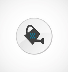 Watering can icon 2 colored vector