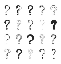 Question marks - hand drawn vector
