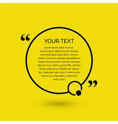 Text bubble on a yellow background vector