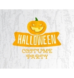 Happy halloween costume party flyer template - vector