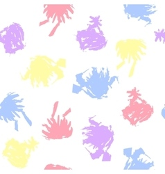 Pastel colored blots on white background vector