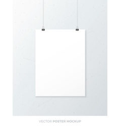 Blank poster mockup vector