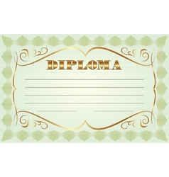 abstract diploma template vector image