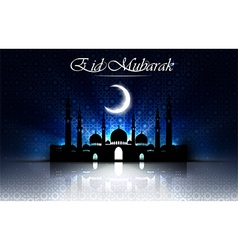 Beautiful religious eid background with mosque vector
