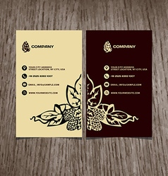 business card beer company vector image vector image