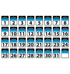 Calender dates vector image vector image