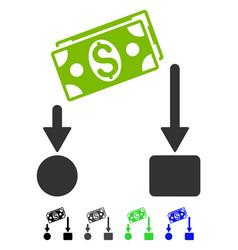 Cash flow flat icon vector