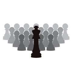 chess pieces of a king and pawns vector image vector image