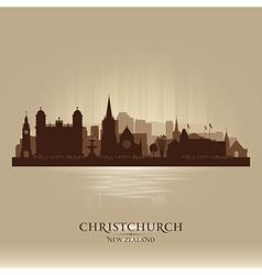 Christchurch new zealand city skyline silhouette vector