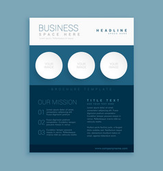 Creative blue brand brochure template vector