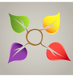 Creative nature emblem vector image