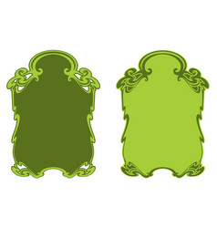 Decorative frame isolated on white vector