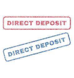 Direct deposit textile stamps vector