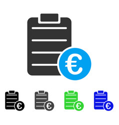 Euro pad flat icon vector