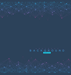 geometric abstract background with connected line vector image vector image