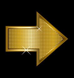 Golden arrowhead vector