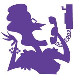 Gossip silhouette vector