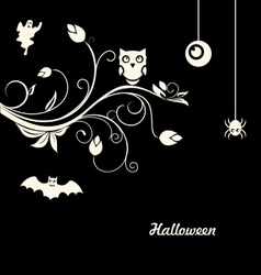 Halloween Flourish Dark Background vector image vector image