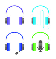 headphones for great music vector image