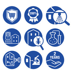 icons set for inspecting residential properties vector image vector image
