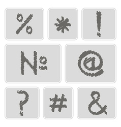 Icons with punctuation and computer keyboard vector