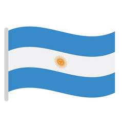 isolated argentinian flag vector image