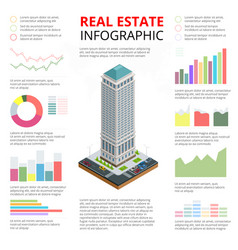 isometric of real estate vector image vector image