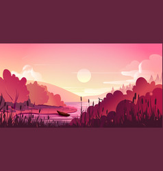 landscape nature background vector image