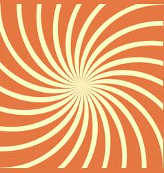 Orange spiral vintage vector
