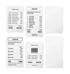 sales printed receipt white empty paper blank vector image