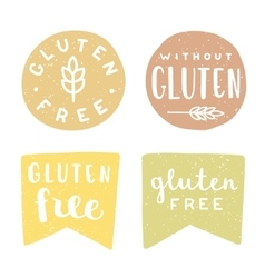 Set of gluten free badges vector image vector image
