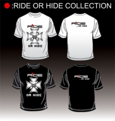 t-shirt ride or hide vector image
