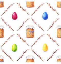 Watercolor easter pattern vector