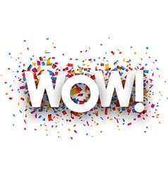 Wow sign vector