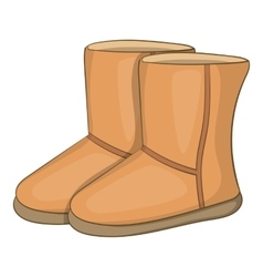 Winter ugg boots icon cartoon style vector