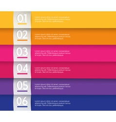 Set of colored stripes with place for your own vector image