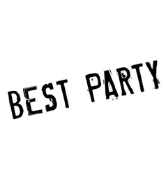 Best party stamp vector image