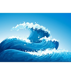 A sea with giant waves vector