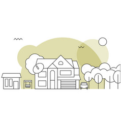 traditional family homeflat design concept vector image