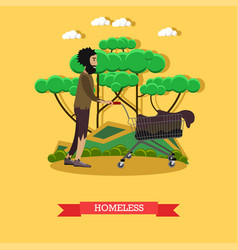 Homeless in flat style vector