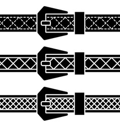 Buckle belt black symbols vector