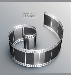 3d film strip background vector image vector image