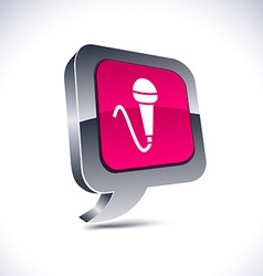 Mic 3d balloon button vector